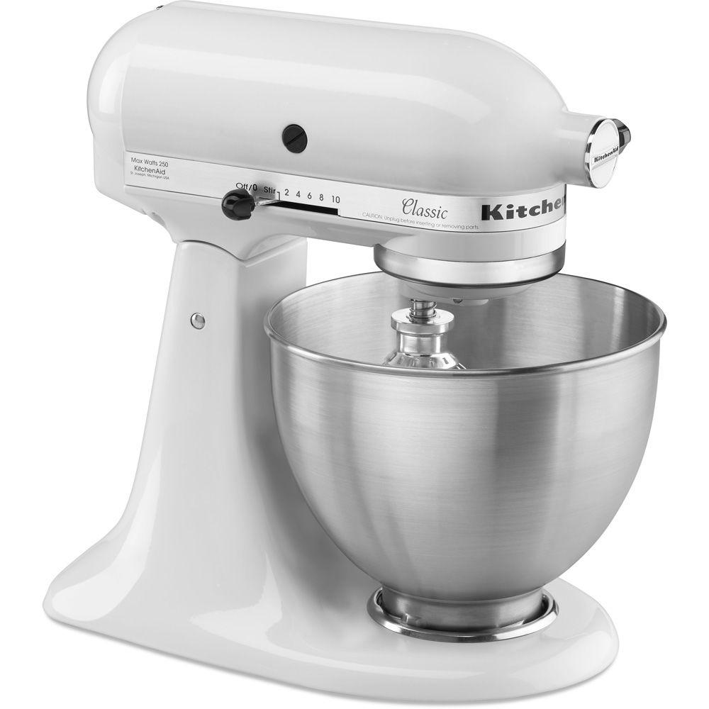 white kitchen aid ikea island kitchenaid classic 4 5 qt tilt head stand mixer k45sswh the