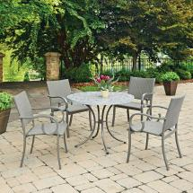 Home Styles Capri 5-piece Concrete Outdoor Dining Set-5610