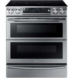 samsung flex duo 5 8 cu ft slide in double oven electric range with [ 1000 x 1000 Pixel ]