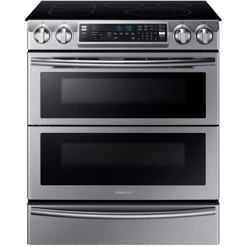 small resolution of samsung flex duo 5 8 cu ft slide in double oven electric range with