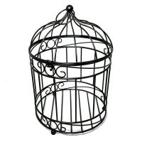 Patio Life 12 in. Dia Casablanca Bird Cage Steel Planter ...