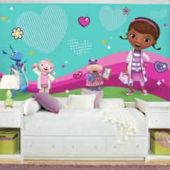 Doc Mcstuffin Chair Mustard Color Roommates 72 In W X 126 H Mcstuffins And Friends Xl Rail 7 Panel Prepasted Wall Mural Jl1396m The Home Depot