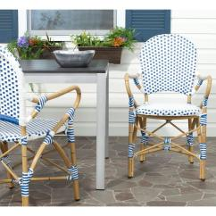 Blue And White Dining Chairs Herman Miller Lounge Chair Safavieh Hooper Patio 2 Pack Fox5209a
