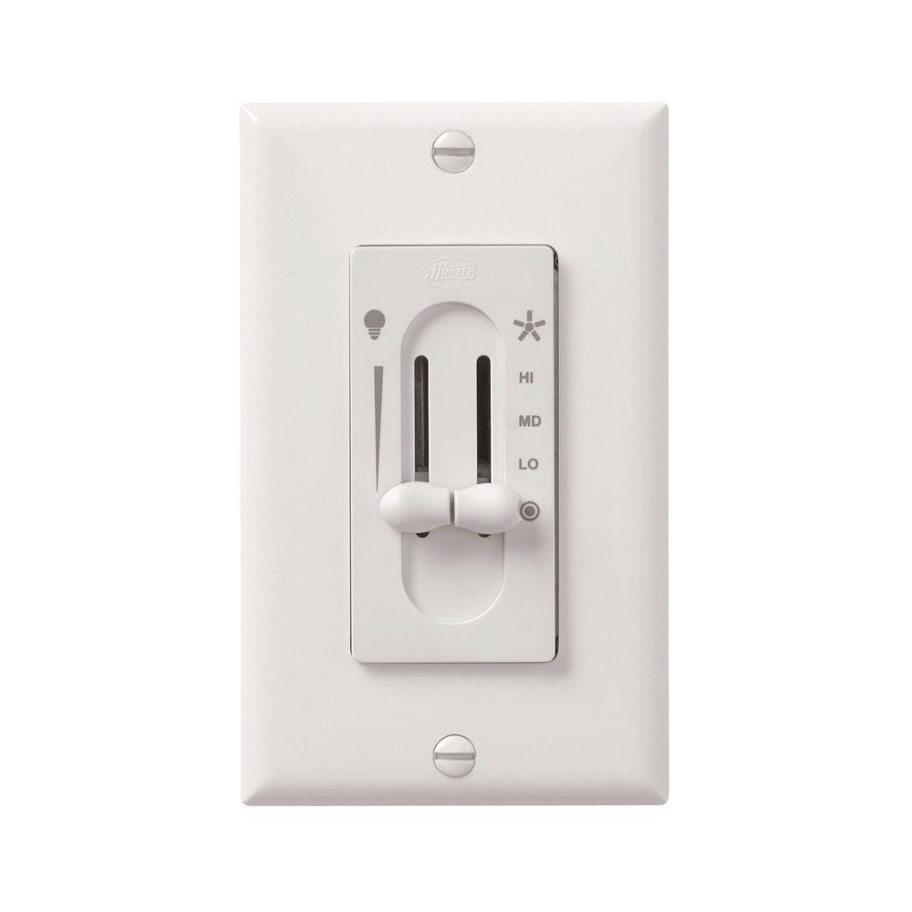 hunter fan switch wiring diagram 3 way dimming all-fan 3-speed fan/light dual-slide ceiling control-27182 - the home depot