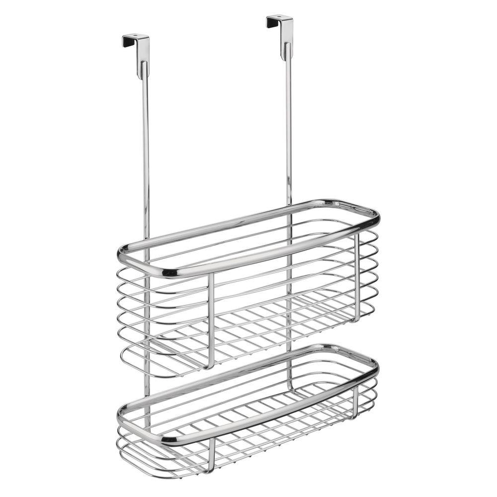 interDesign Axis Over the Cabinet Storage Basket in Chrome