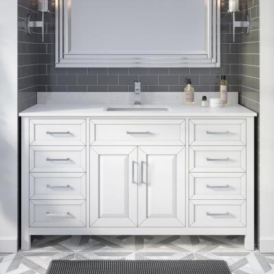 Integrated Electrical Outlet 60 Inch Vanities Bathroom Vanities With Tops Bathroom Vanities The Home Depot