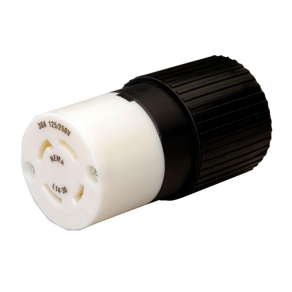 medium resolution of reliance controls twist lock 30 amp 125 250 volt connector l1430c 30 twist lock plug wiring nema 6 30 240 volt receptacle hubbell 30 250