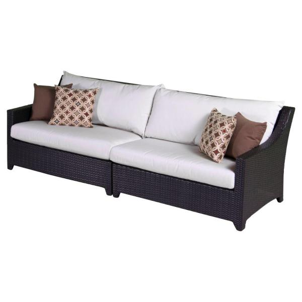 Rst Brands Deco Patio Sofa With Moroccan Cream Cushions-op
