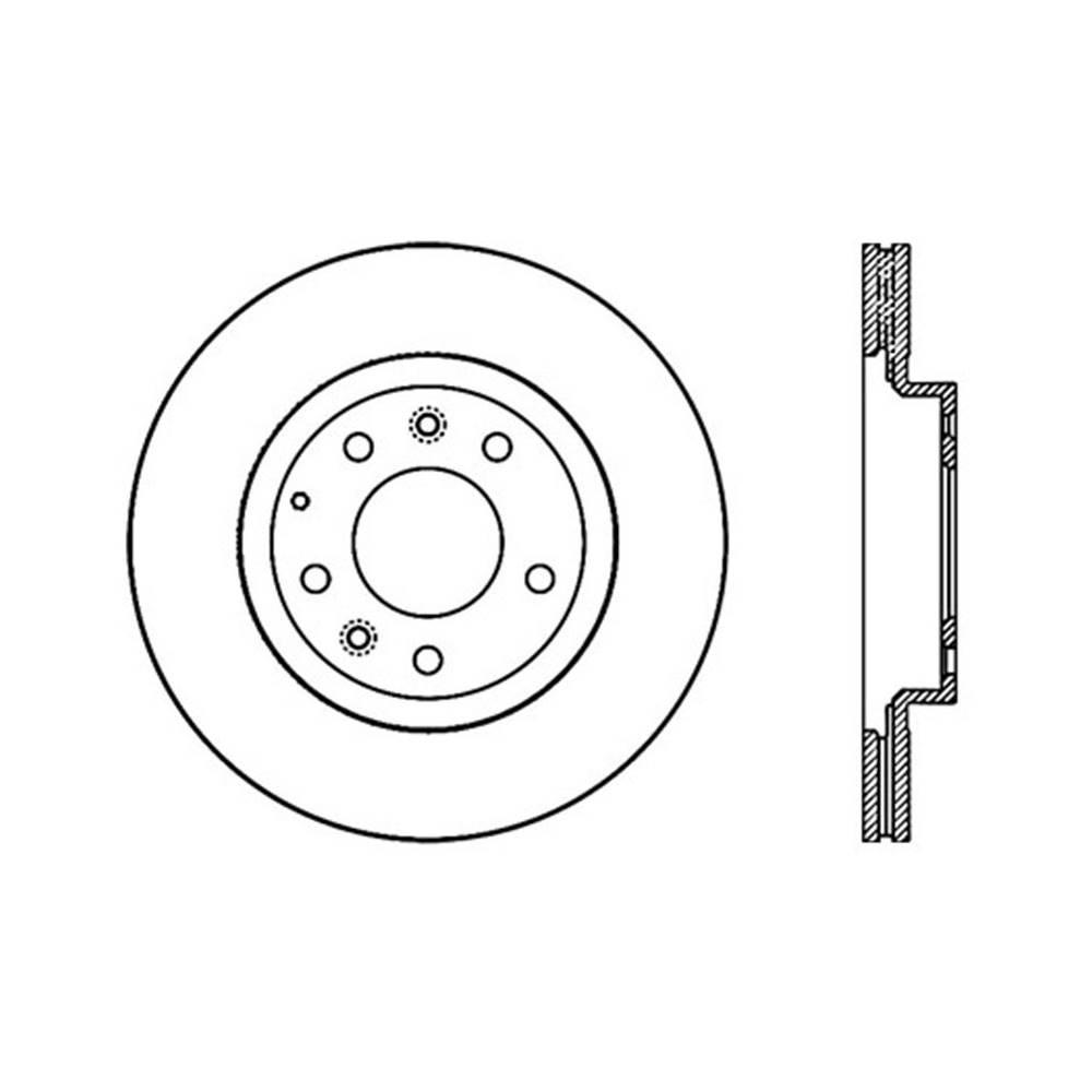 Centric Parts Disc Brake Rotor 2006-2015 Mazda MX-5 Miata