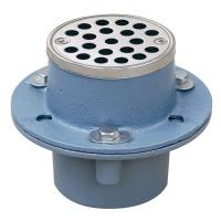 Sioux Chief 2 in. Cast-Iron Shower Drain with Strainer-821 ...