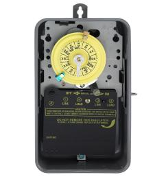 intermatic t101r series 40 amp 125 volt 24 hour spst mechanical time switch with [ 1000 x 1000 Pixel ]