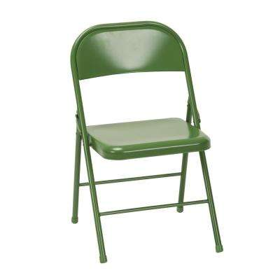 folding chair green storage box cosco tables chairs furniture the novogratz all steel