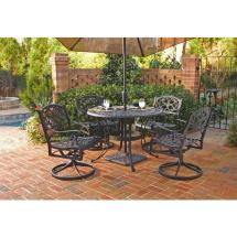Home Styles Biscayne 42 In. Black 5-piece Swivel