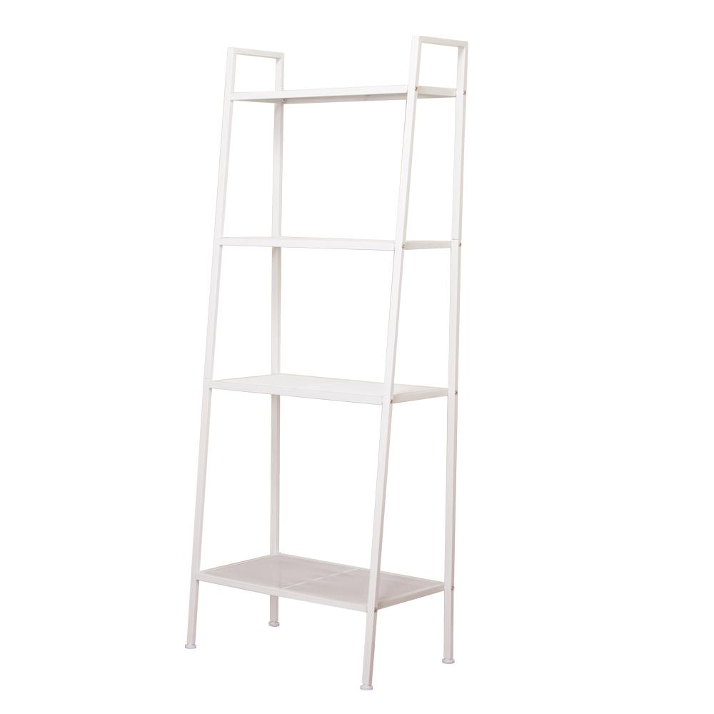 23 in. x 14 in. 4-Tiers Ivory White Widen Metal Bookcase