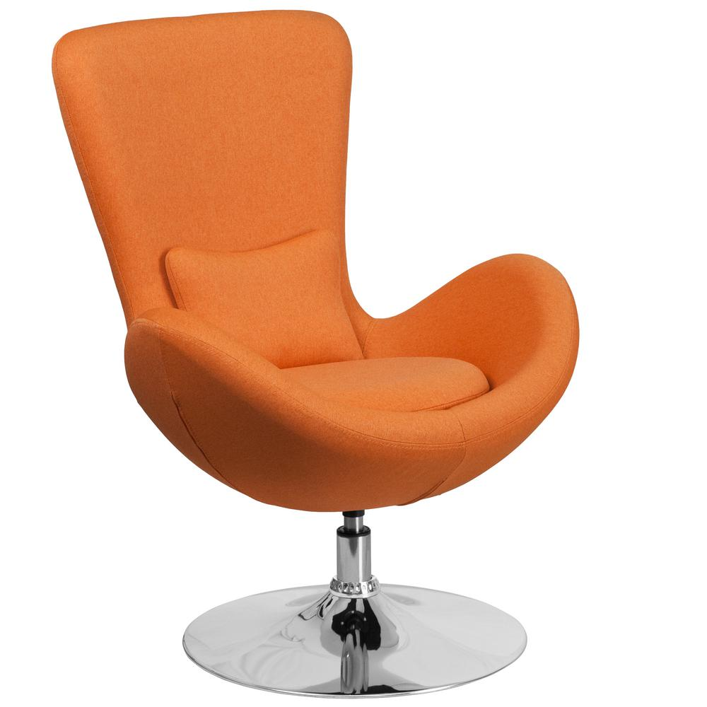 orange side chair butterfly leather flash furniture fabric egg series reception lounge ch162430orfab the home depot