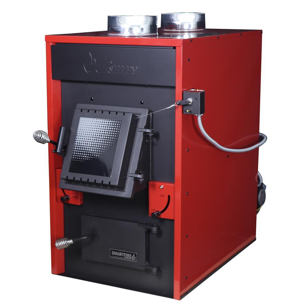 hight resolution of 140 000 btu epa certified wood burning warm air furnace af1500e the home depot