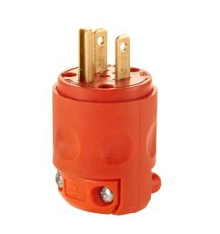 leviton 15 amp 125 volt 3 wire plug orange [ 1000 x 1000 Pixel ]