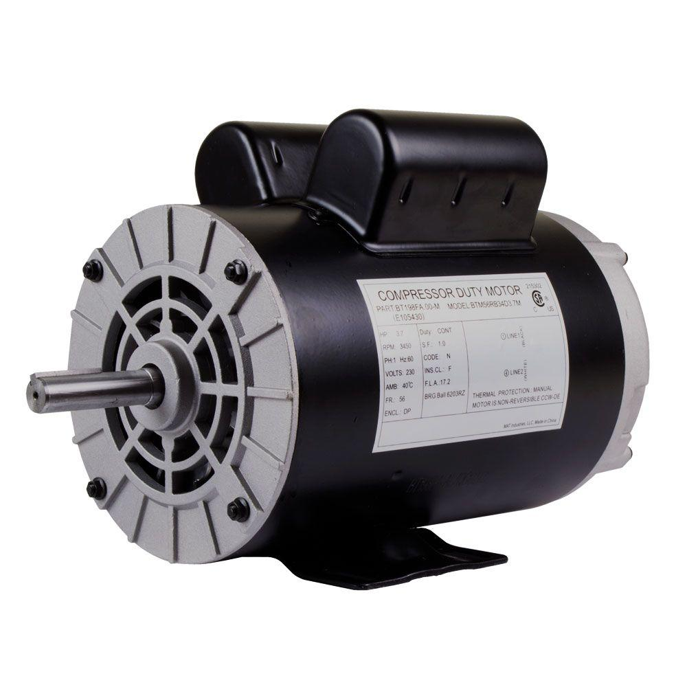 medium resolution of replacement 230 volt motor for husky air compressor e106006 the home depot