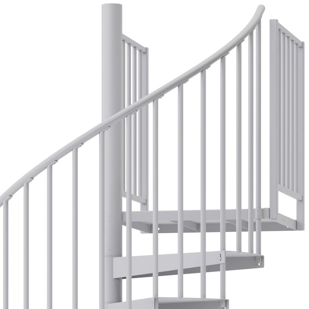 Mylen Stairs Condor White Interior 60 Diameter 13 Treads With 1   Spiral Staircase Home Depot   Steel   90 Degree   Alternating Tread   Outdoor   Small Metal