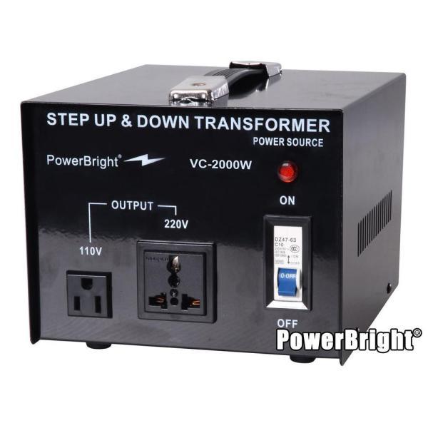 Power Bright 2000-watts Step Converter 110 120-volt - 220 240-volt Voltage Transformer