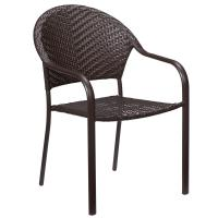 Hampton Bay Mix and Match Stackable Wicker Outdoor Dining ...