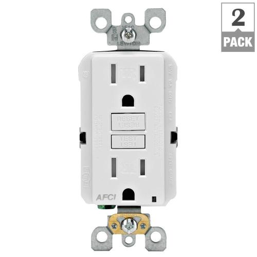 small resolution of leviton 15 amp tamper resistant afci outlet white 2 pack p00 electrical switch wiring diagram light switch home wiring diagram afci