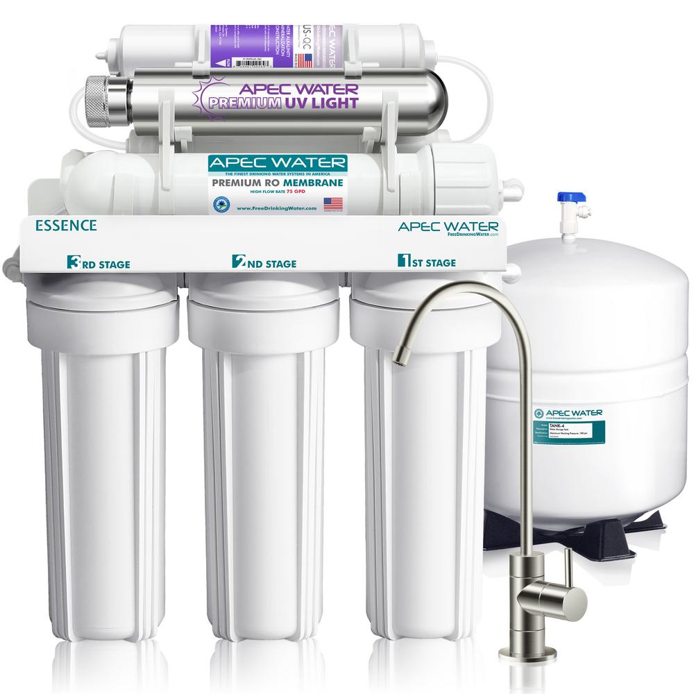 medium resolution of essence 75 gpd 7 stage reverse osmosis water filtration system with alkaline