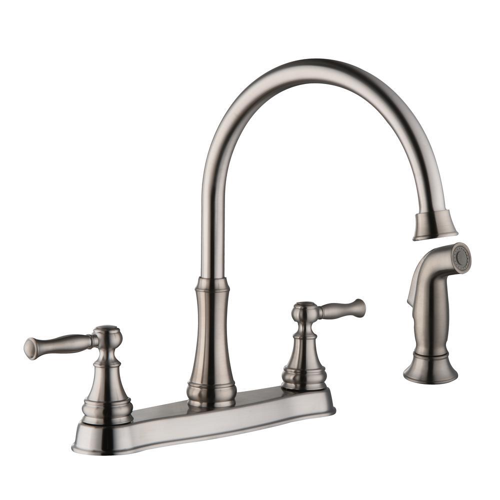 Glacier Bay Fairway 2Handle Standard Kitchen Faucet with