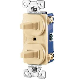 commercial grade 15 amp combination single pole toggle switch and 3 way switch ivory [ 1000 x 1000 Pixel ]
