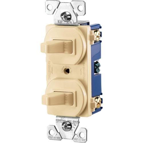 small resolution of commercial grade 15 amp combination single pole toggle switch and 3 way switch ivory