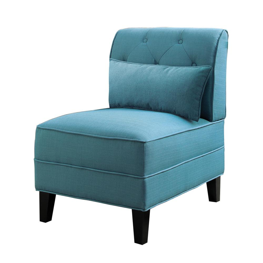 teal accent chair buy covers canada acme furniture susanna with pillow 59610 the