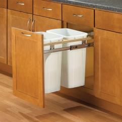 Kitchen Trash Can Pull Out Undermount Farmhouse Sink Cans Cabinet Organizers The Home Depot 18 In H X W 23 D