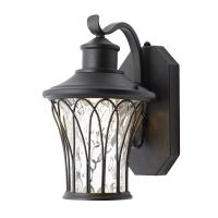 Home Decorators Collection Black Outdoor LED Dusk to Dawn ...
