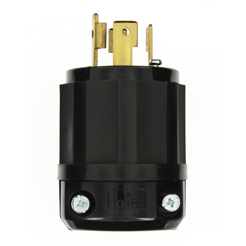 hight resolution of leviton 30 amp 480 volt 3 phase locking grounding plug black white rh homedepot com 277 volt wiring how to wire a 480 volt 3 phase plug