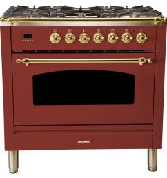 36 in 3 55 cu ft single oven dual fuel italian range [ 1000 x 1000 Pixel ]