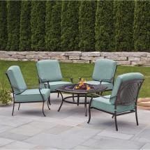 Hampton Bay Belcourt 5-piece Metal Outdoor Patio Fire Pit