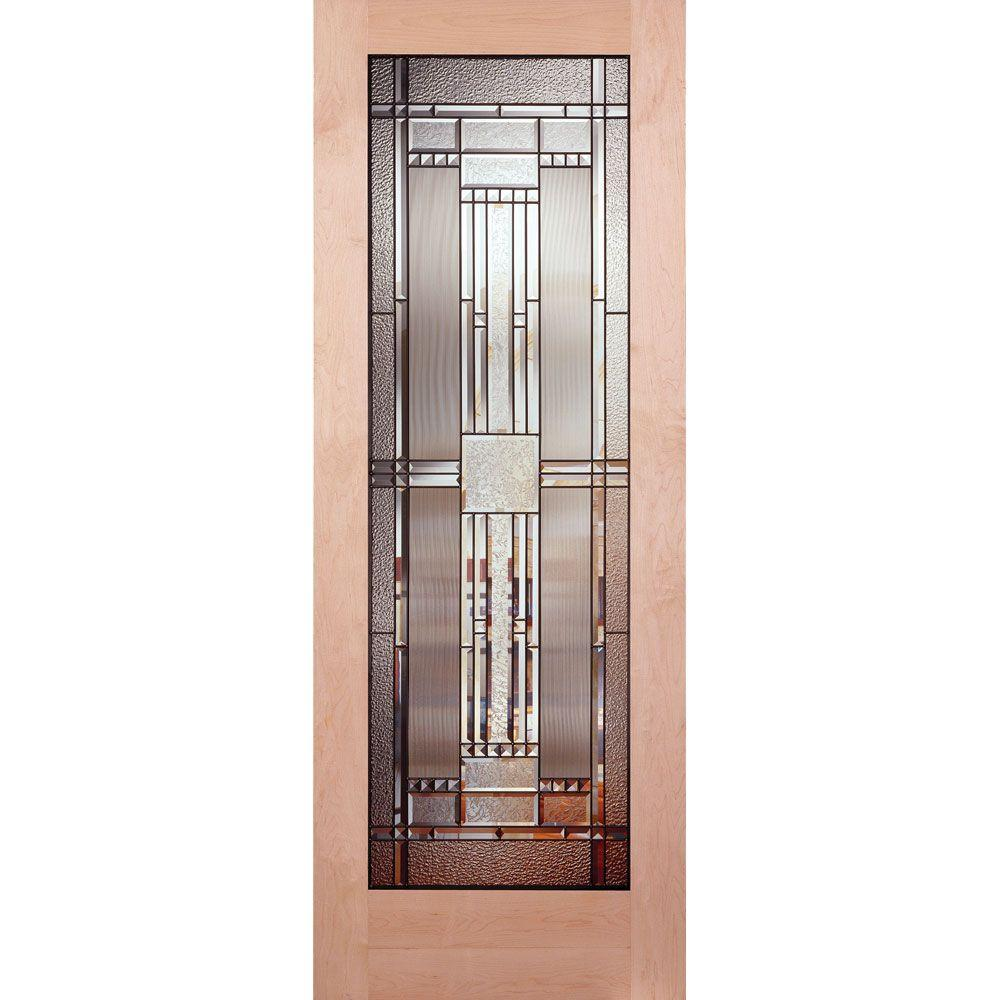 Pinecroft 30 In X 80 In Glass Over Panel Tuscany Wood: 30x80 Interior Door