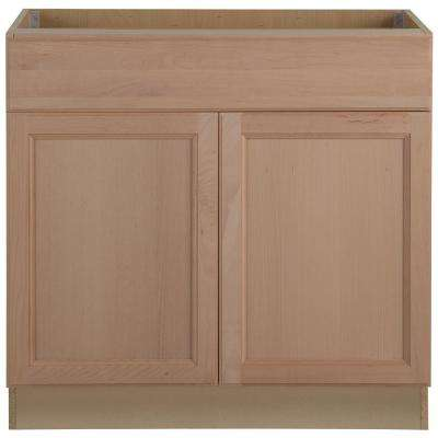 kitchen base cabinet built in islands assembled cabinets the home depot easthaven with drawer unfinished german beech