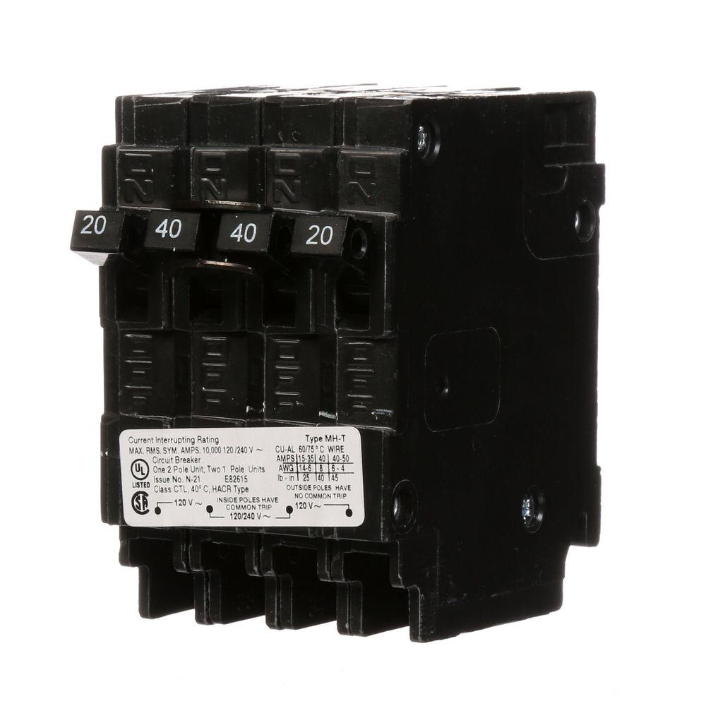 hight resolution of murray triplex two outer 20 amp single pole and one inner 30 amp double pole circuit breaker mp23020 the home depot