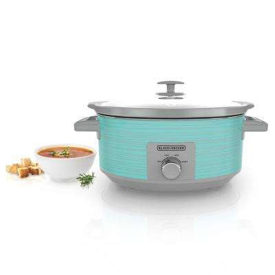teal kitchen appliances types of countertops small the home depot 7 qt slow cooker