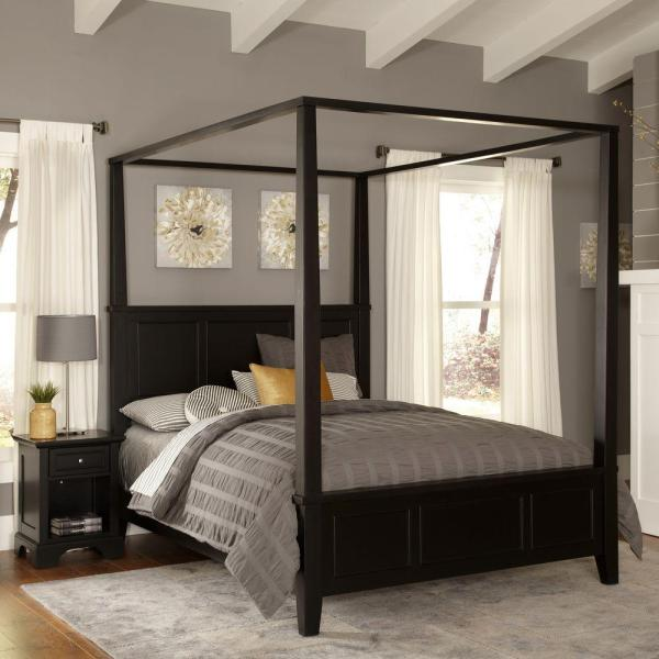 Black King Canopy Bed