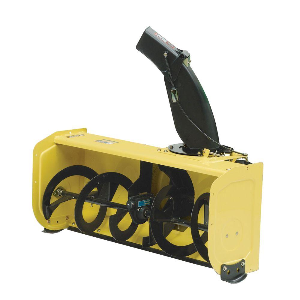 medium resolution of john deere 44 in snow blower attachment for 100 series tractors