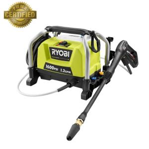 RYOBI 1600 PSI 12 GPM Electric Pressure Washer RY141600 The Home Depot