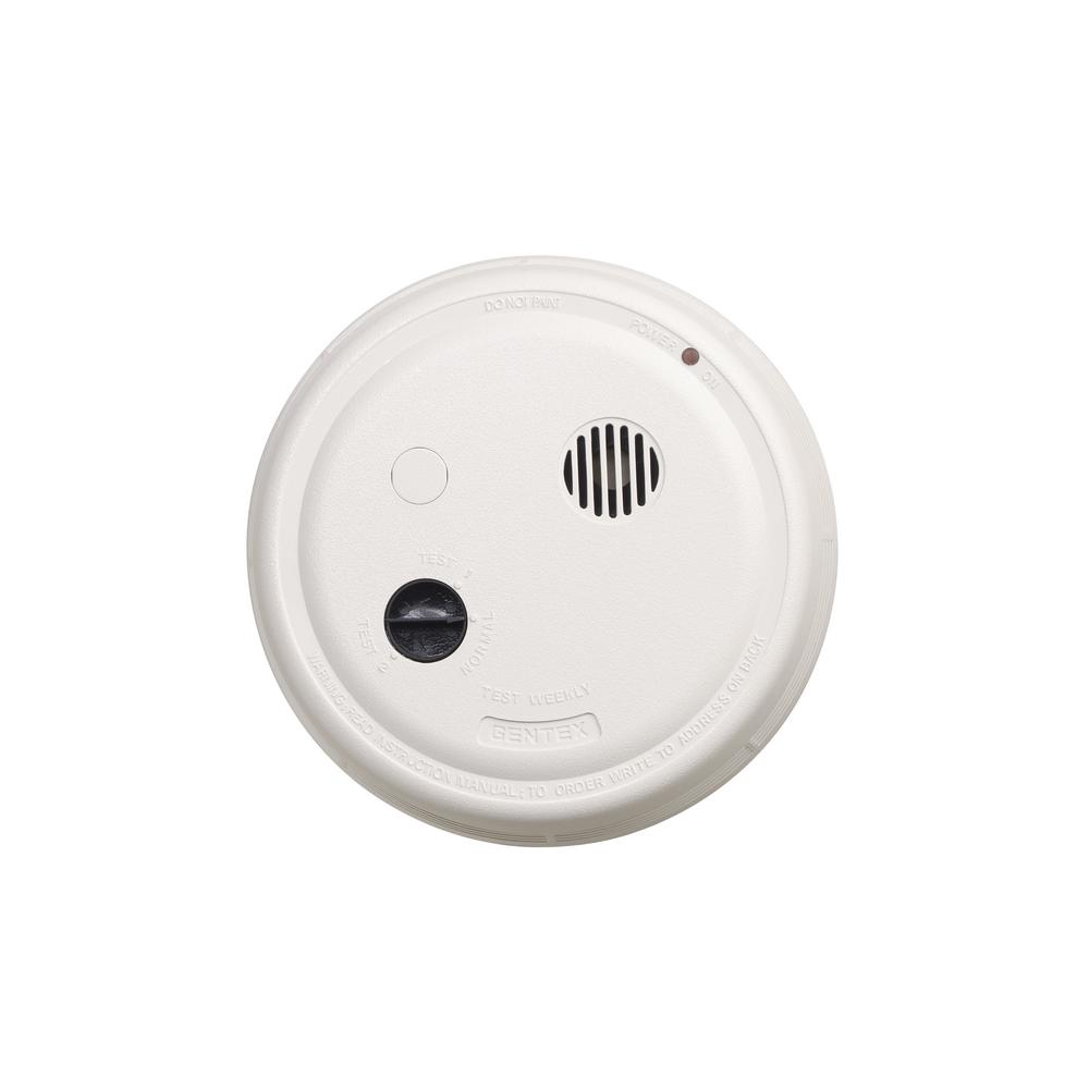 hight resolution of gentex hardwired interconnected photoelectric smoke alarm with battery backup and relay contacts