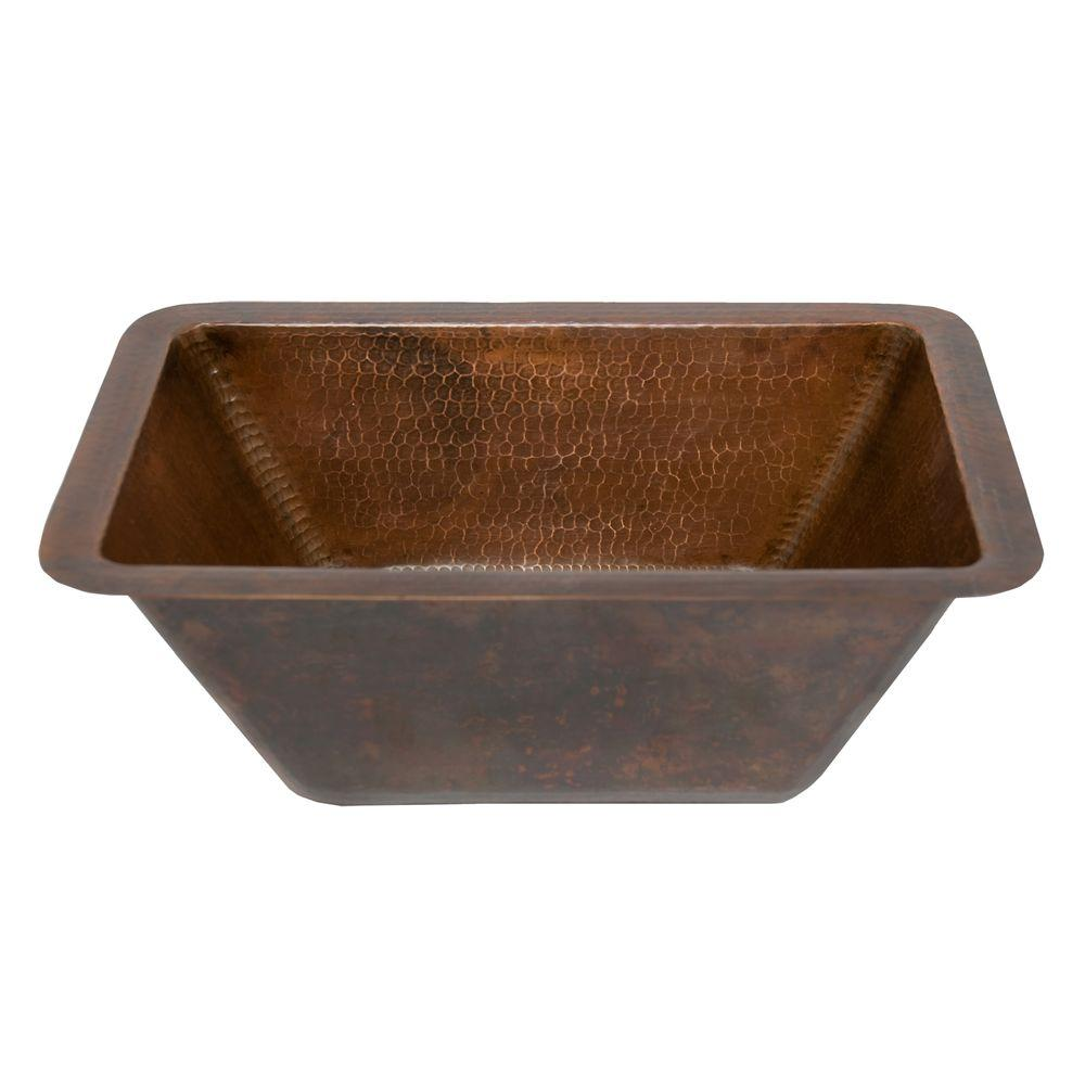 Premier Copper Products UnderCounter Rectangle Hammered