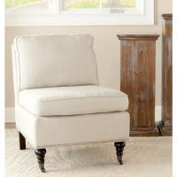 Safavieh Randy Off White Linen Slipper Chair-MCR4584D ...