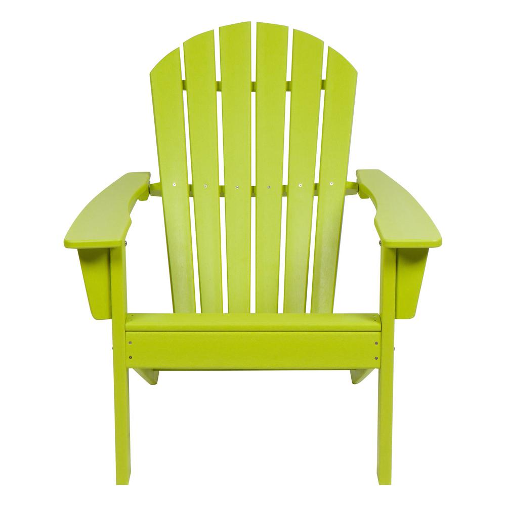 Lime Green Chairs Shine Co Seaside Lime Green Adirondack Chair
