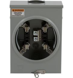 100 amp ringless horn bypass overhead or underground meter socket [ 1000 x 1000 Pixel ]
