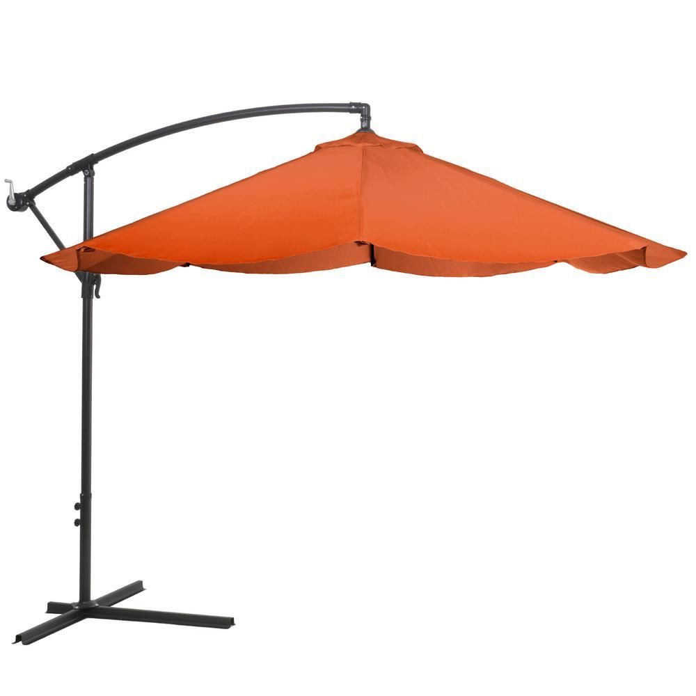 Pure Garden 10 ft. Offset Aluminum Hanging Patio Umbrella