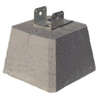 Concrete Pier Block with Metal Bracket-8053112 - The Home ...